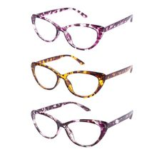 f16274bbd1fa Leopard Print Cat Eye Frame Reading Glasses For Women Fashion Tortoiseshell  +100~+400