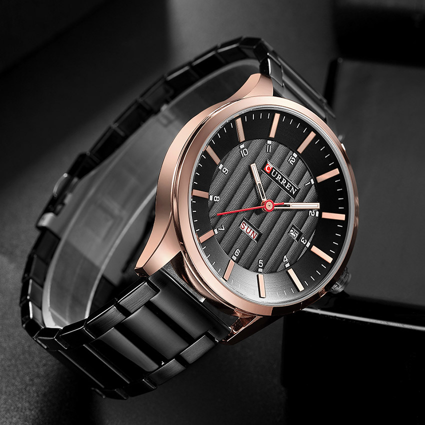 2018 CURREN Gold Quartz Watch Top Brand Luxury Men Watches Fashion Man Wristwatches Stainless Steel Relogio Masculino Saatler 4