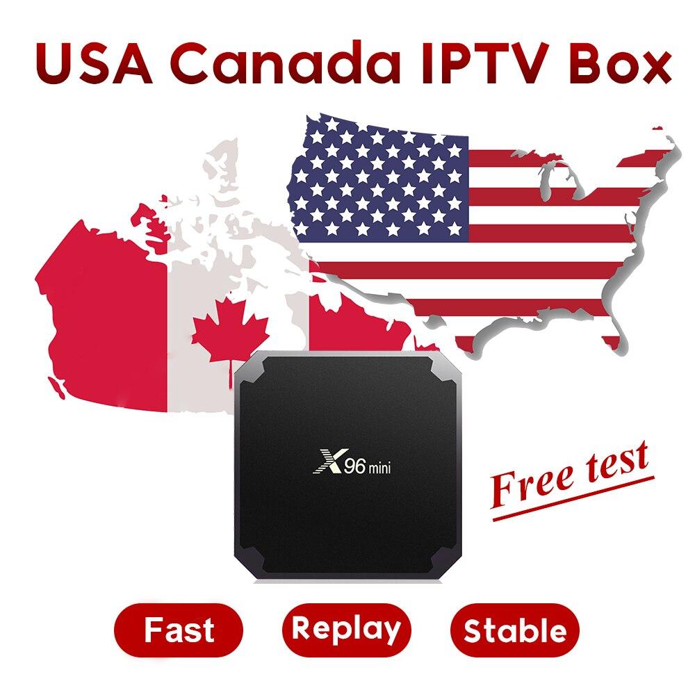 TVLINK USA Canada IPTV Box avec 12 mois gratuit IPTV abonnement 500 + USA TV 168 Canada TV 400 + arabe IPTV box gratuit 3800 VOD