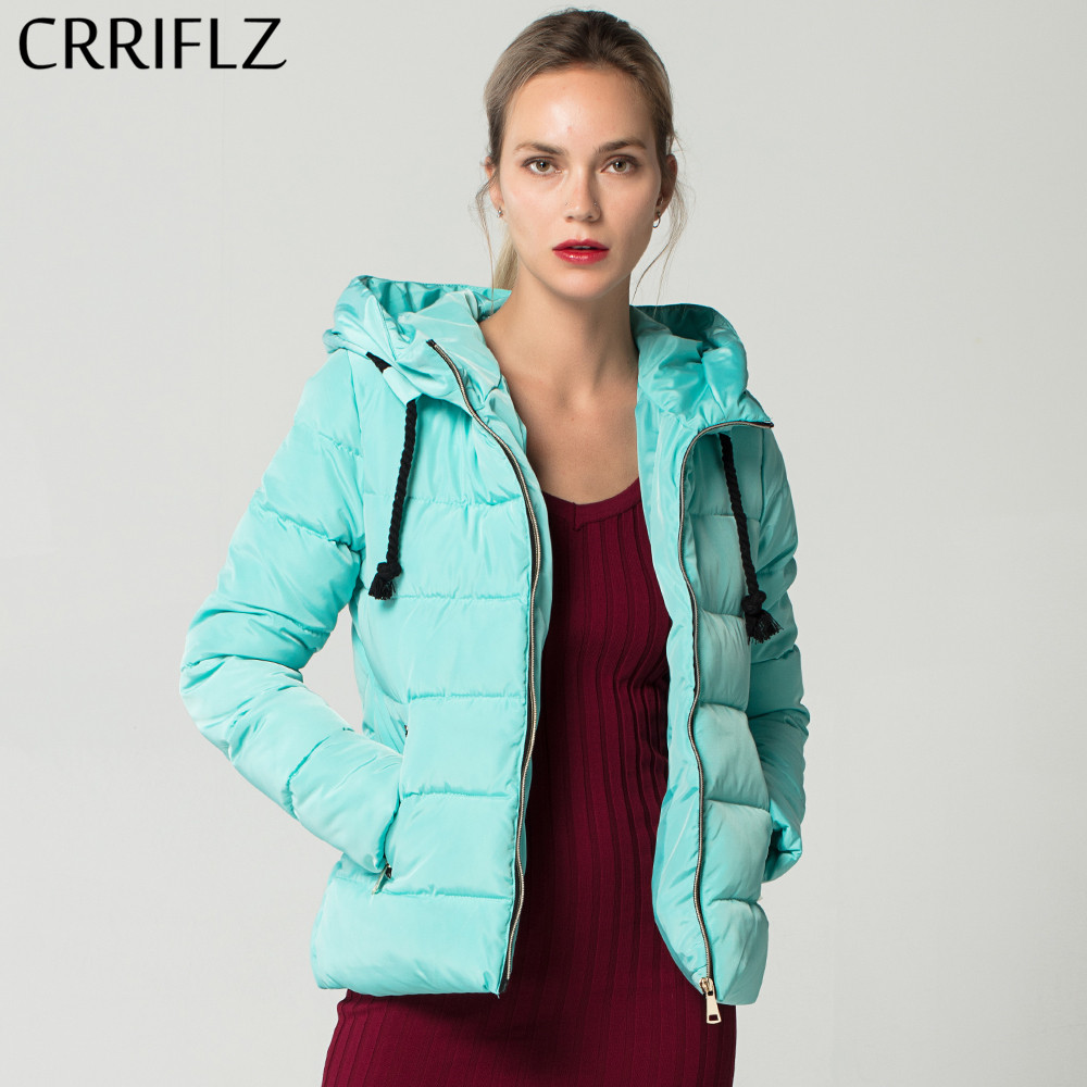 2019 New Solid Warm Winter   Basic     Jacket   Women Parkas Zipper Hooded Coat Female   Jacket   Coat CRRIFLZ Autumn Winter Collection