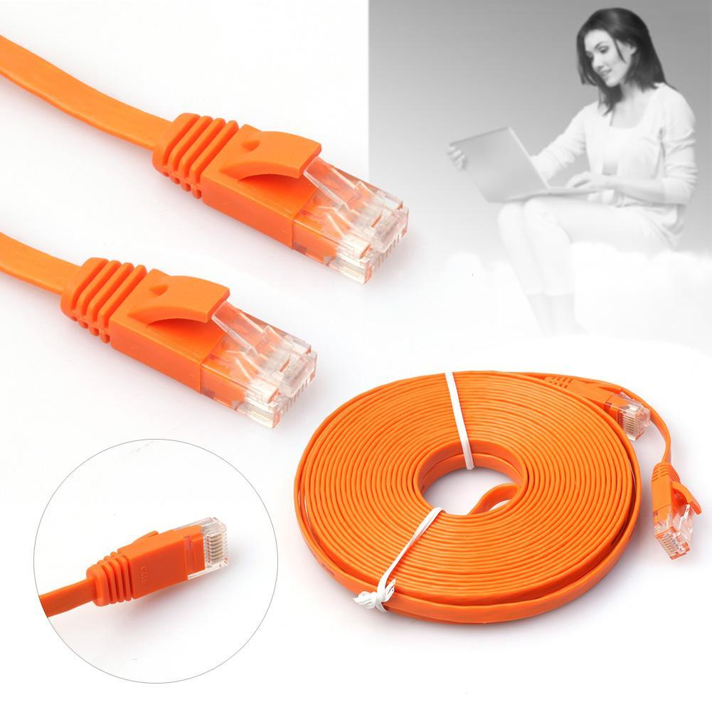 5m Length CAT6 Ultra-Thin Flat Ethernet Network LAN Cable