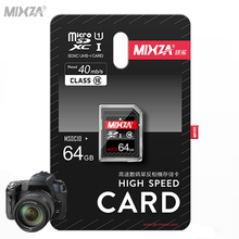 High Quality MIXZA Class10 40MB/s SD Card 64GB SDXC 32GB 16GB 8GB SDHC UHS-I Flash Memory Card For Digital SLR Camera Camcorder(China)