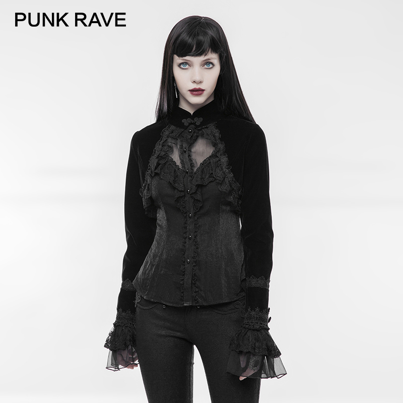 PUNK RAVE Gothic Black Short Victoria palace Jacket Long Sleeves Coats Shawl Luxuriant Royal Dinner Party
