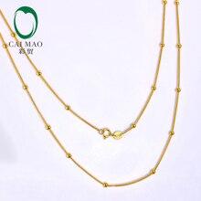 CAIMAO дамы 18kt желтое золото шары цепь 18 дюймов 45 см длина торговля изысканный дизайн ювелирные изделия