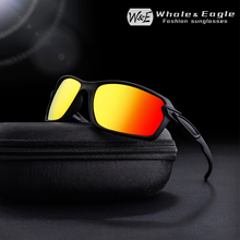 W&E Polarized Mens Sunglasses Brand Design Classic Black Driving Glasses Fashion Travel UV400 Cool