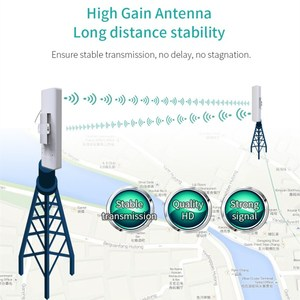 Image 2 - Comfast cf 3 5 キロ長距離ハイパワー無線ブリッジcpe 2.4 グラム & 5.8 グラム 300 150mbpsの無線lan信号ブースター増幅中継apルータ