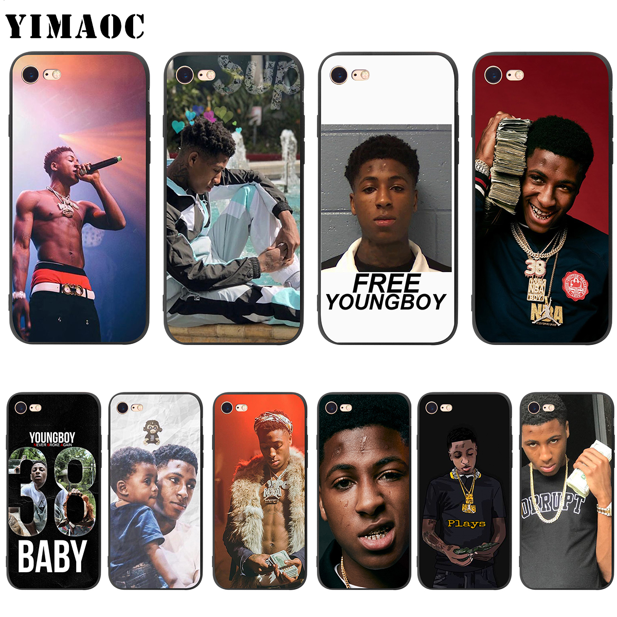 finest selection 96623 26663 US $1.81 45% OFF|YIMAOC Youngboy Never Broke Again Soft Silicone Case for  iPhone XS Max XR X 8 7 6 6S Plus 5 5s se-in Fitted Cases from Cellphones &  ...