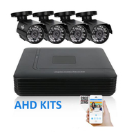2 3 4 Channel CCTV System 4CH Mini DVR For CCTV Kit 1200TVL 720P IR Bullet
