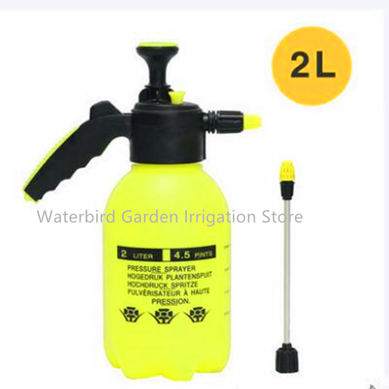 2L Hand Pressure Sprayer Plastic Long Nozzle Pump Type For Garden Flower Irrigation Garden & Watering Supplies A110