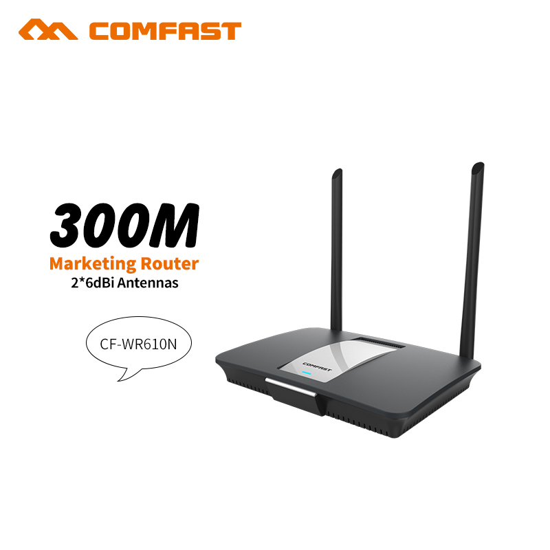 COMFAST CF-WR610N 300Mbps Wireless Wifi Router 802.11b/g/n access point AP router 1 WAN port+4 LAN port and 2*6dBi wifi antennas 1000mw 2 4ghz 300mbps 802 11b g n wlan ap router