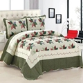 100% Cotton Bedspread Pillow Cases Queen/King Size Patchwork Floral Bed Cover/Coverlet Set