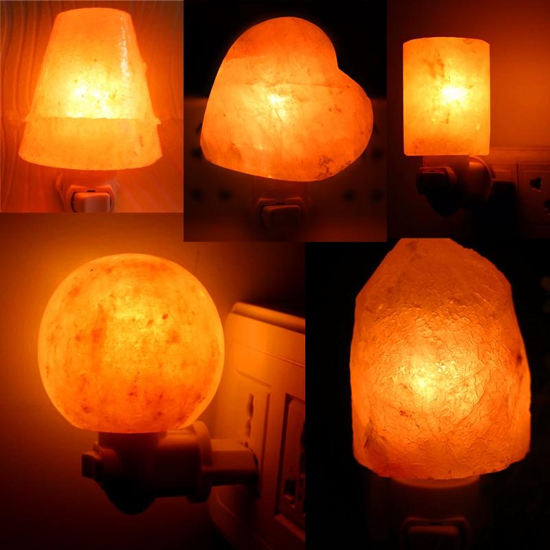 Natural Himalayan Hand Carved Salt Lamp with Bulb 360 Degree Rotation US Plug Christmas Birthday Gifts