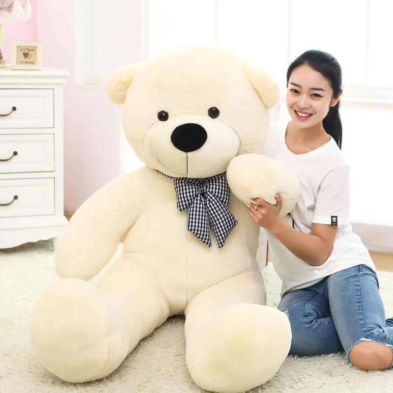 1pc 80/100cm Cute Teddy bear plush toy stuffed soft bear animal plush pillow for kids girlfriend birthday Valentines giftStuffed & Plush Animals   -