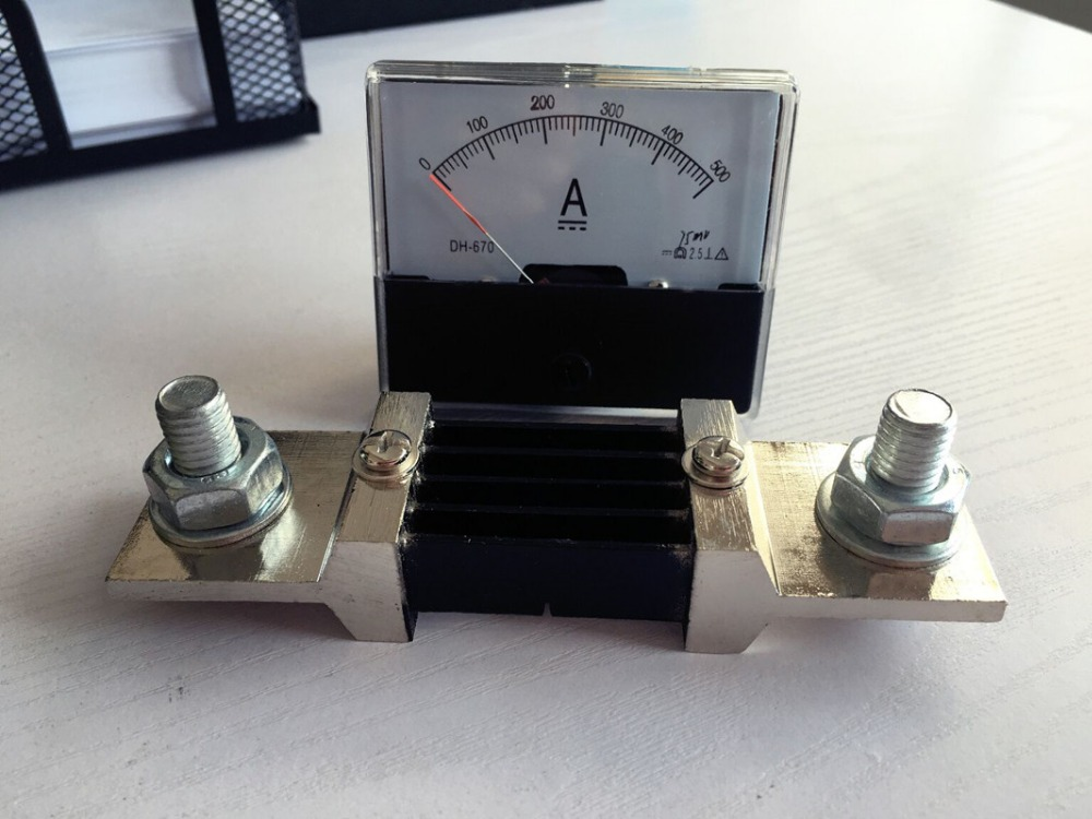 Pointer Analog Amp Panel Meter Current Ammeter DC 0-500A 500A with shunt free shipping h 500a