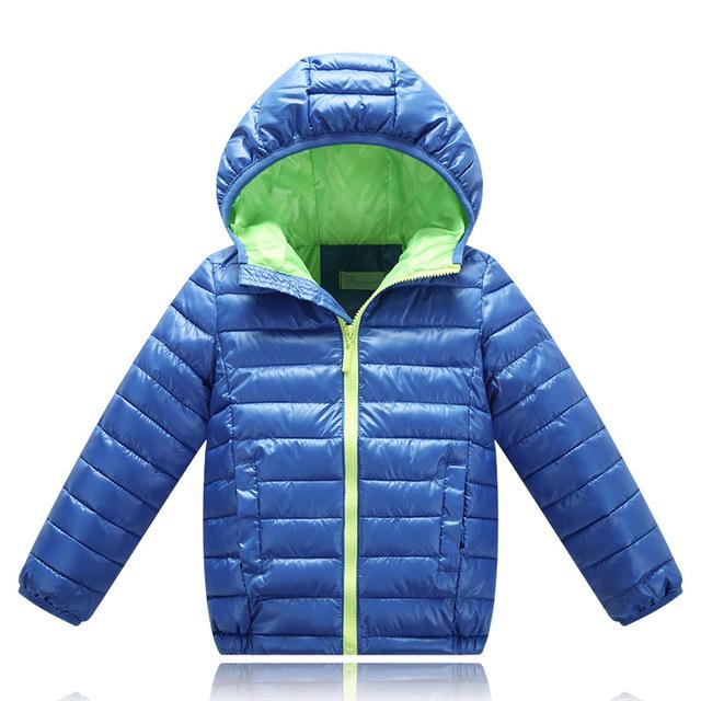 Kindstraum 2017 nuevos niños de algodón con capucha de alta jacker abajo girls solid parkas de invierno de calidad superior para los niños, rc715