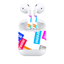 Custom Design Vinyl Wrap 2018 For Apple AirPods Skins Full Body Protective Decal Sticker 3M Waterproof Scratch Proof Films