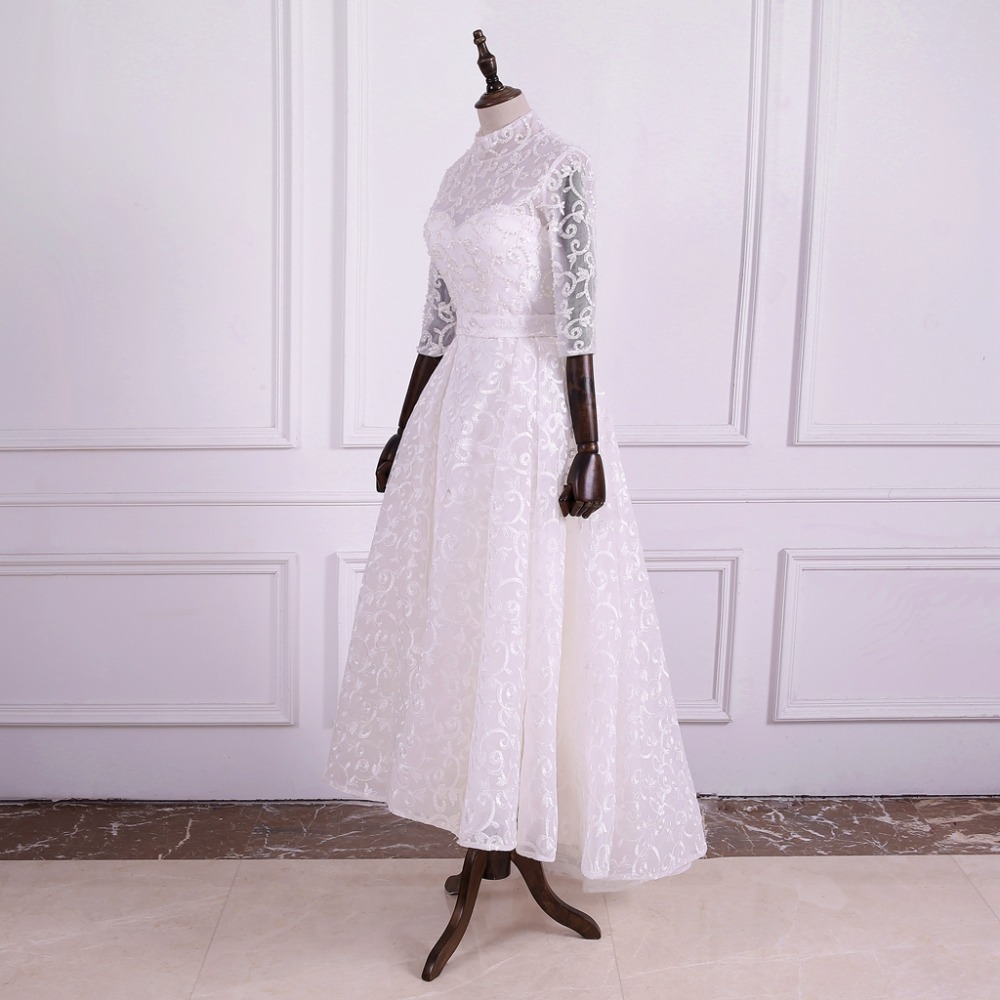 NOBLE WEISS Lace Wedding Dresses with Beaded Sequin Brautkleid Vorn ...