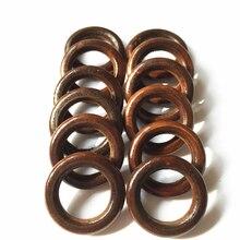 DIY 20 шт деревянные кольца круг необработанный натуральный деревянный бессвинцовый бисер игрушки соска клип темный коричневый
