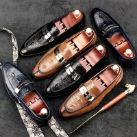 New Arrival Luxury Man Casual Shoes Genuine Leather Cow Comfortable Loafers Round Toe Designer Brand Men's Business Flats GD20