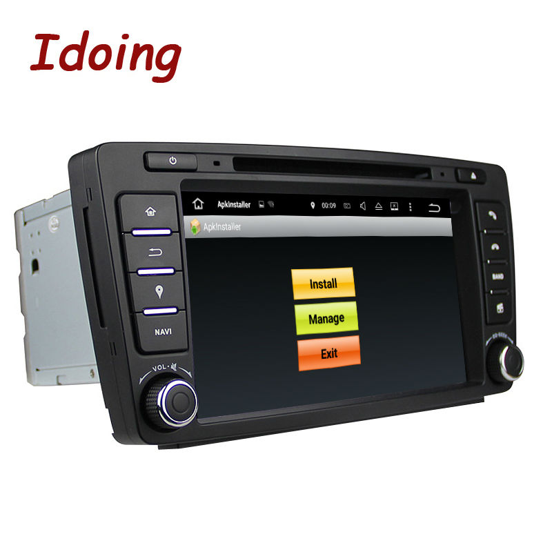 2Steering-Wheel Idoing2Din DVD Multimídia Player De Vídeo Do Carro Para Skoda Octavia Android 7.1 Rádio De Navegação Touch Screen Bluetooth