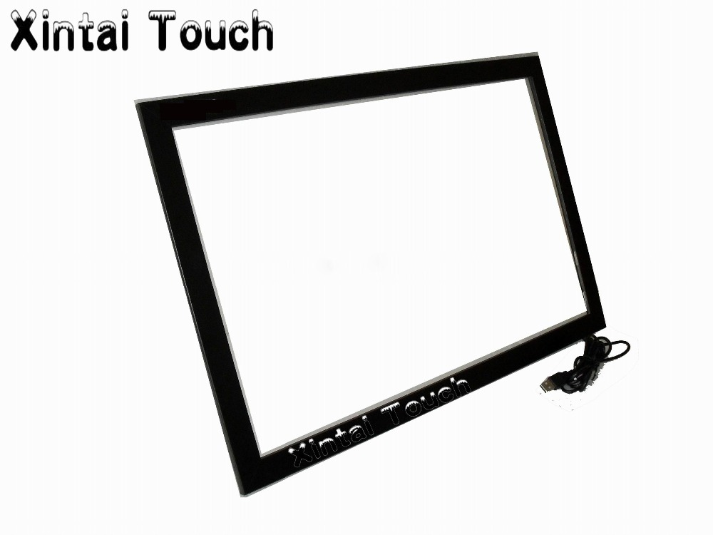 Free Shipping! 2PCS 60+1PCS 55 driver free IR Touch Screen Panel/Frame, Truly 10 points USB Touch Screen Overlay kit