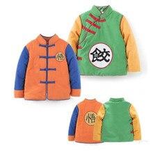 Mono de niño y bebé de gato de NYAN, mono grueso de manga larga de Goku para invierno, traje de estilo chino para bebé, ropa para Dumplings