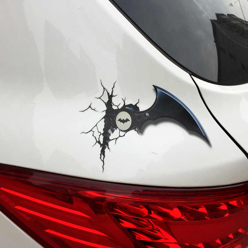 1 PC 3D Stick Mainan untuk Super Hero Marvel 3D Ironman Spiderman Batman Kreatif Stick untuk Mobil Koper Terbaik Stiker Hadiah
