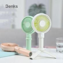 Benks Mini Fan 3350mAh Rechargeable USB Fan Portable Handheld Fan 3-Speed Mini USB Handy Small Desktop USB Cooling Fan Cooler цена и фото