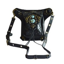 Hi- Q leather women bag carteras mujer bag Steam punk thigh Motor leg Outlaw Pack Thigh Holster Protected Purse Shoulder Purse