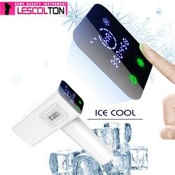 2019 Новый Эпилятор Lescolton Ice cool IPL, постоянное лазерное удаление волос с ЖК-дисплеем, лазерный триммер для бикини, фотоэпилятор