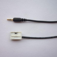 AUDI A4 için AUX SES 3.5mm GIRIŞ kablo hattı A3 A6 TT A8 S4 IÇINDE 2007 2008 2009 2010 2012 2013 2014