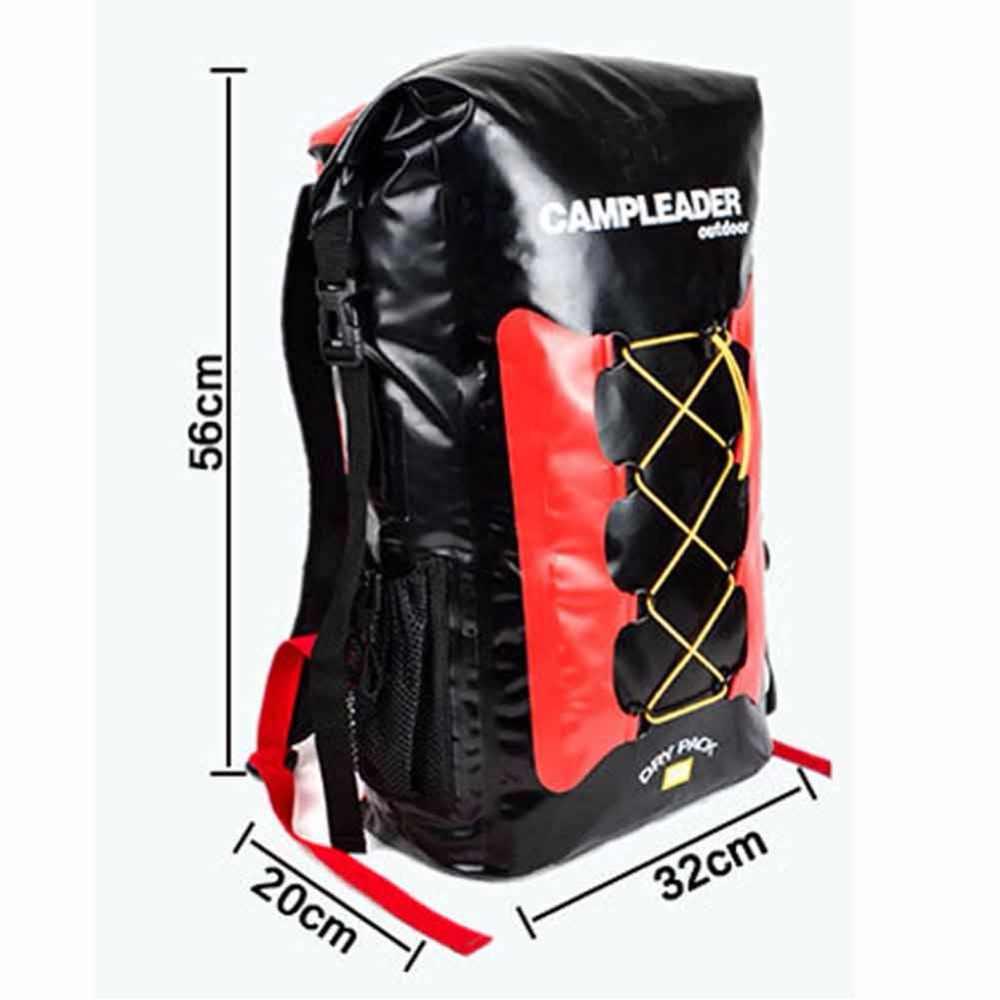 30L Tahan Air Tas Ransel Laptop Roll Top untuk Outdoor Trekking Hiking Olahraga Air Kayak Berkemah Memancing Berperahu