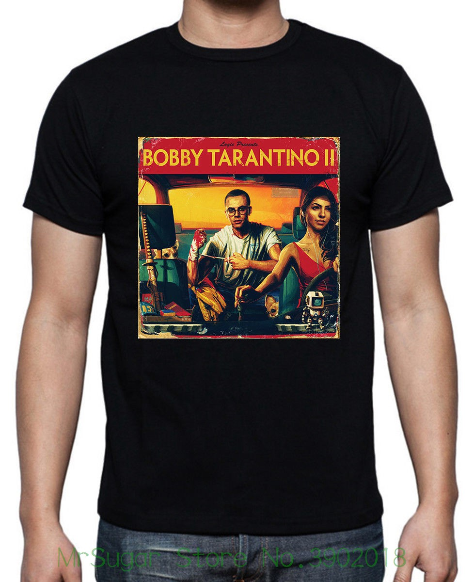 logic-bobby-font-b-tarantino-b-font-ii-black-t-shirt-size-m-to-2xl-new-tops-2018-print-letters-men-t-shirt
