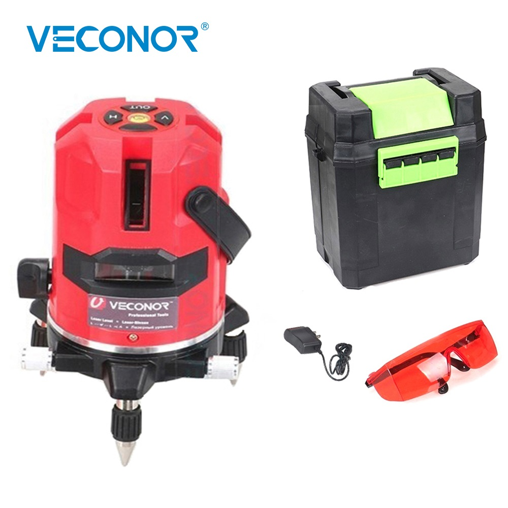 цена на Laser Level 5 Lines 6 Points Special Laser 635nm Slash Function Vertical Horizontal Self leveling Cross Line Measuring Tools