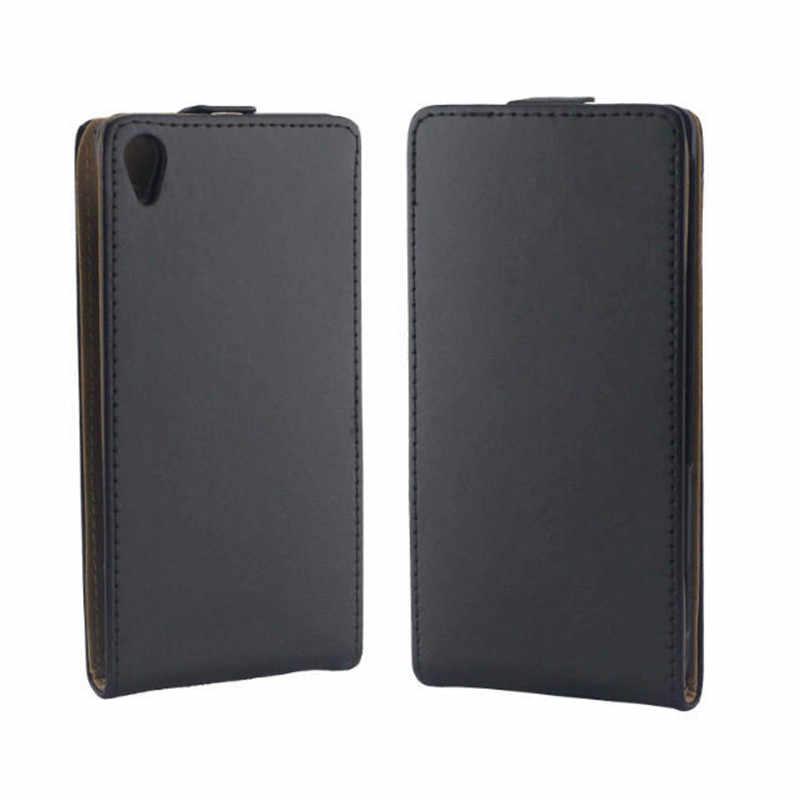 Вертикальный флип-кейс из искусственной кожи Fundas Капа для Sony Xperia Z3 D6603 l55t крышка ТПУ чехол вверх-вниз Открыть кожи мешок телефон Сумки