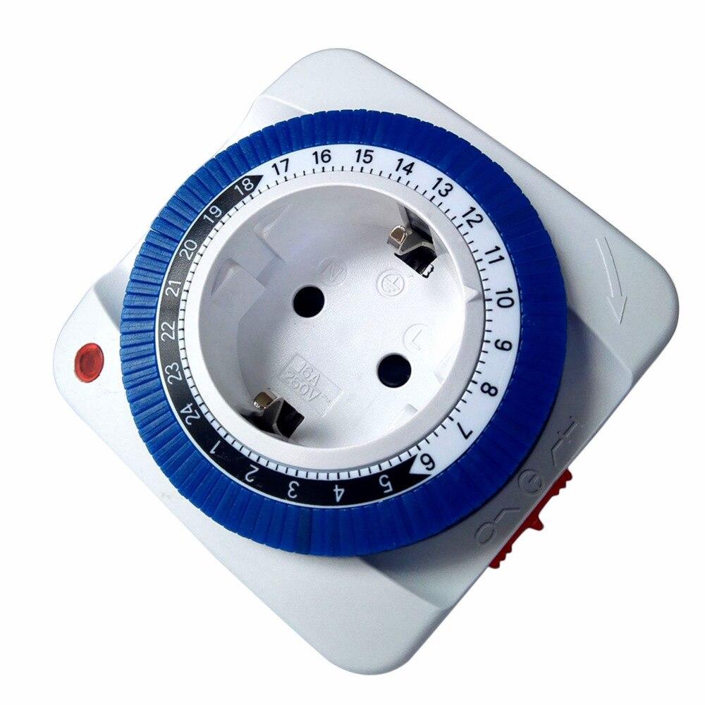 AC Outlet EU US Plug Smart Power Travel Adapter Socket Adjustable Mechanical Timer Switch Electrical Sockets