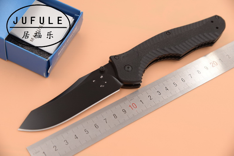 JUFULE Made 810 M4 Steel blade G10 handle folding Copper washer hunting camping Pocket outdoor Survival EDC Tool kitchen knife