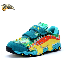 Dinoskulls Children Kids Boys Shoes Sneakers Mesh Breathable Sport Shoes 2017 Running Sneakers Casual 3D Dinosaur Shoes