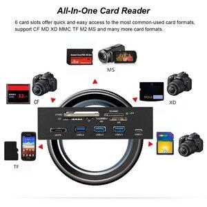 "Image 5 - שמש tipway STW 5.25 ""פנימי כרטיס קורא מדיה לוח המחוונים Multi פונקצית פנל קדמי למחשב סוג C USB 3.1 USB 3.0 תמיכה CF"