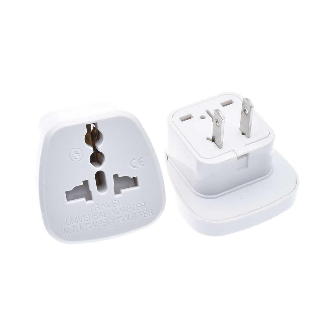คุณภาพยอดนิยมขาย safe ประตู AU UK EU to US AC Power Plug Travel Converter อะแดปเตอร์อะแดปเตอร์เชื่อมต่อ, 2 pc