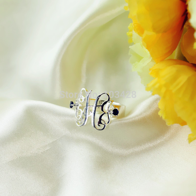 monogram rings monogrammed gold on sterling rose personalized perfectly best images jewelry preppy pinterest wedding rosie swellcaroline or ring pieces