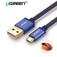 Ugreen Denim Micro USB Cable Fast Charger Data Cable Braided USB Cable Mobile Phone USB Charger