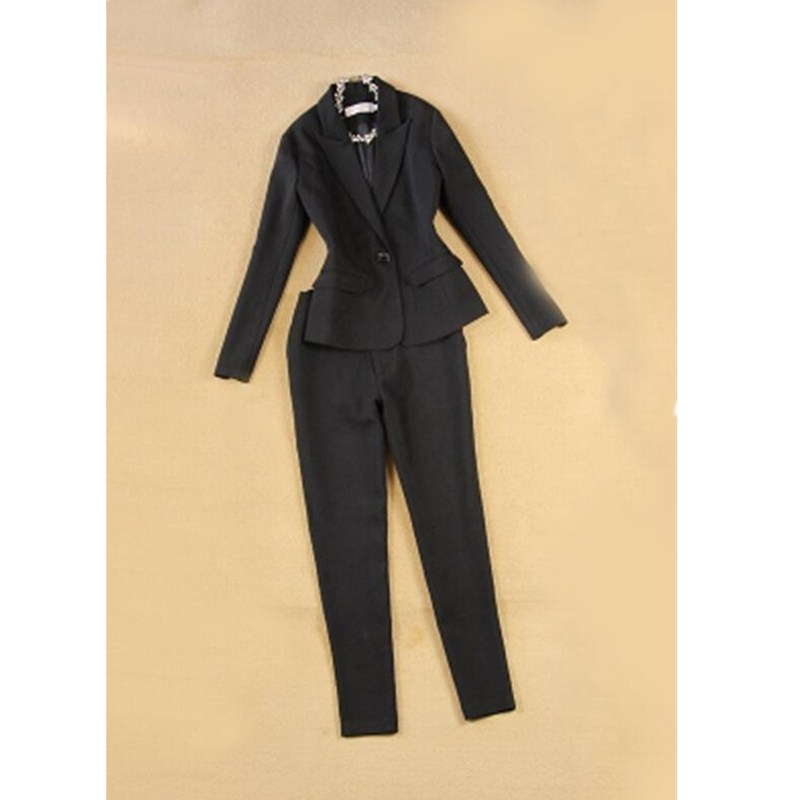 rose Deux De Blue pink gray Unie piece New black Couleur Formelle Pantalon Bureau charcoal D'affaires Femmes Color Seul Suit Gray Bouton veste Photo Color sky Card navy yellow royal Blue red color light Costume burgundy khaki purple Hot Red qwEF8A