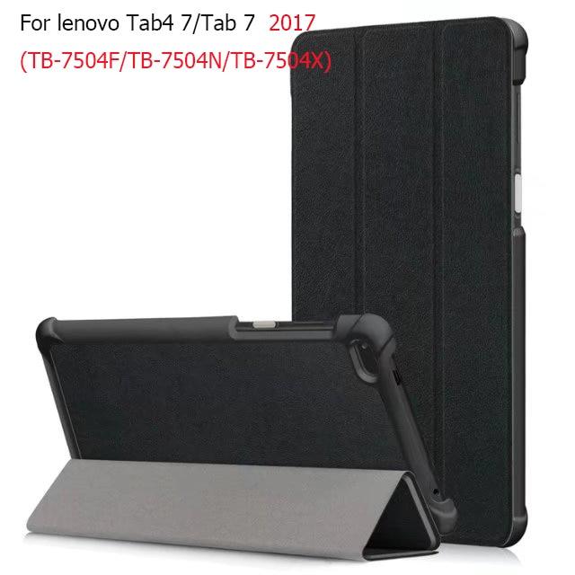 New magnetic slim pu leather cover case for Lenovo Tab4 Tab 4 7 inch TB-7504F TB-7504N/X for Lenovo Tab 7 TB-7504X(2017) case кейс для назначение lenovo tab 7 essential tab 7 со стендом флип чехол однотонный твердый кожа pu для lenovo tab 7 essential lenovo