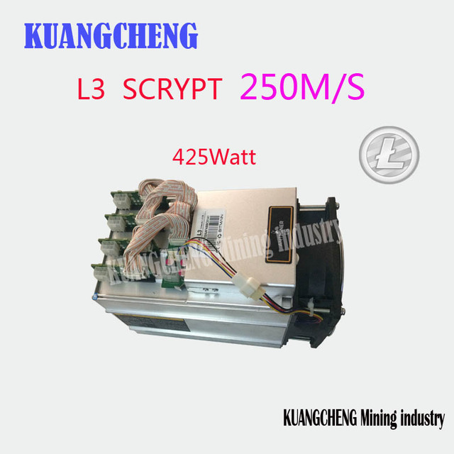 KUANGCHENG Mining industry sell Scrypt Miner 250MH Antminer L3 Litecoin Miner for Scrypt Mining Substitution of A4 Dominator