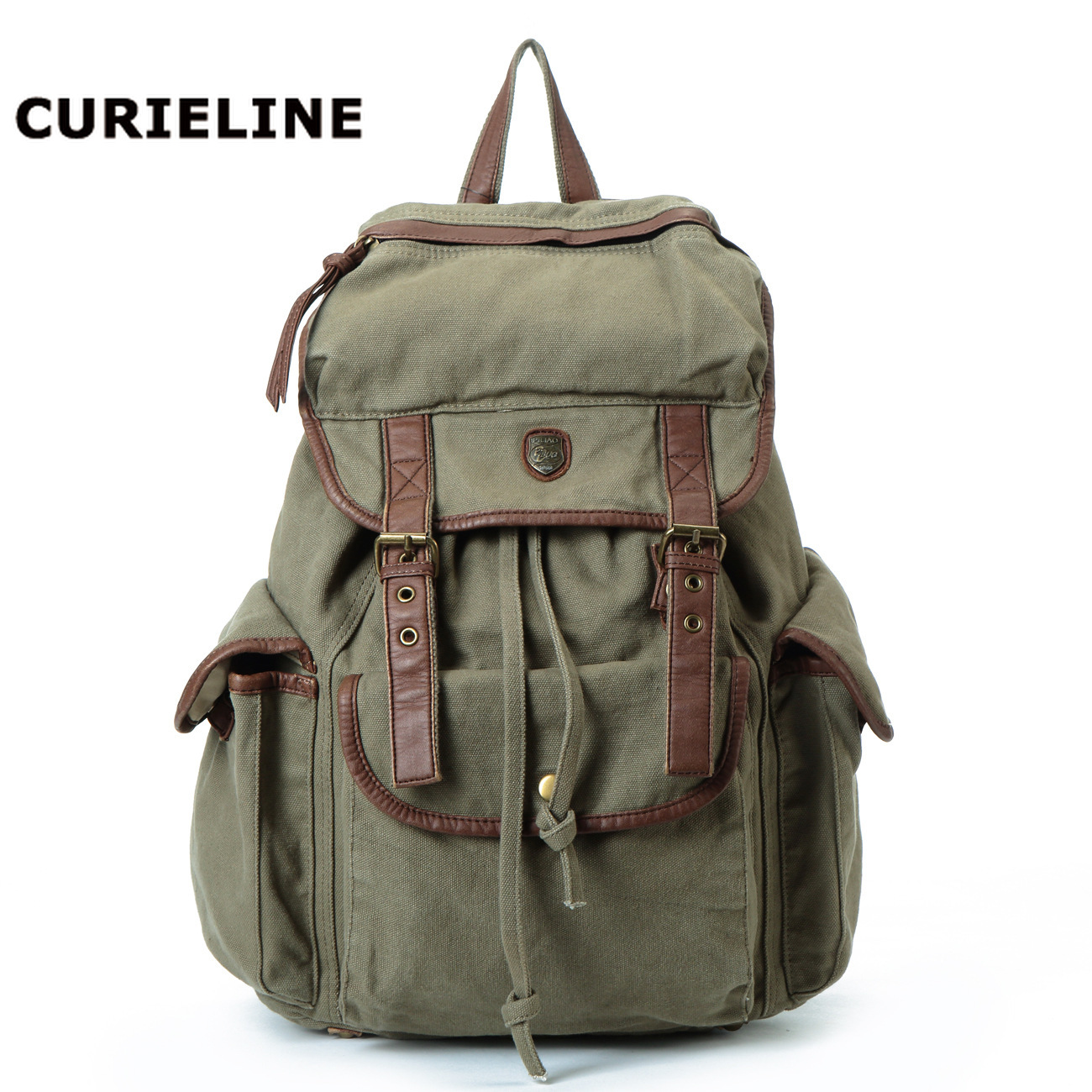 CURIELINE Factory direct sale canvas backpack student bags outdoor large-capacity bags for menCURIELINE Factory direct sale canvas backpack student bags outdoor large-capacity bags for men
