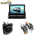 "BEMTOO 2.4G Wireless 2ch Video 4.3 "" Foldable Car Monitor Mirror With 170 Wide Angle HD Night Vision Car Rear View Camera"