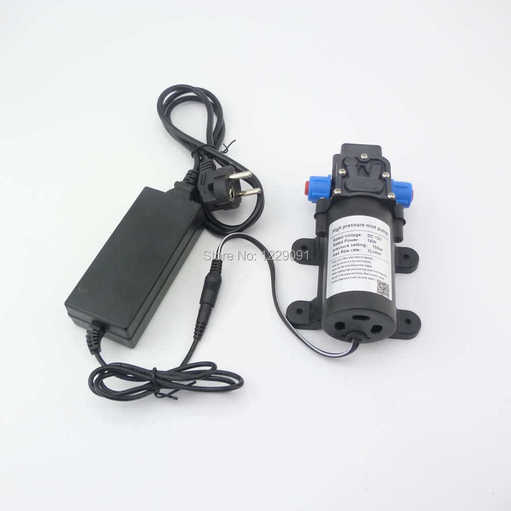 15W 1L/min 8bar Return valve type Mini DC 12v electrical high pressure sprayer pump water mist Pump fog pump misting pump 1l min 12v dc 15w 1mpa high pressure pump mist fog spray maker electric sprayer diaphragm pump