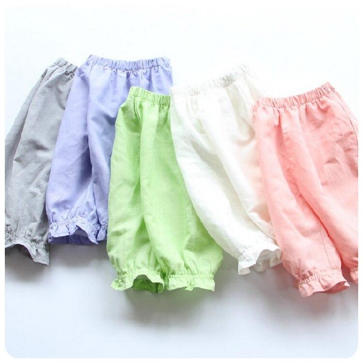 Nuevo Producto Del Verano de Los Niños Coreanos Ropa Niña Bebé Pantalones Ocio