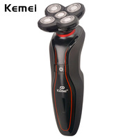 Kemei Washable Shaving Machine Rechargeable Shaver Mens Electronic Razor Floating Facial Stylers Mens Face Shavers Clean